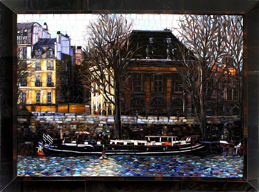 Fine Art Mosaic April in Paris