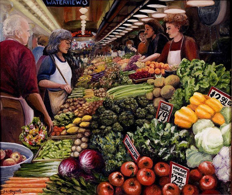 Pike Place Market: Washington Oil Painters