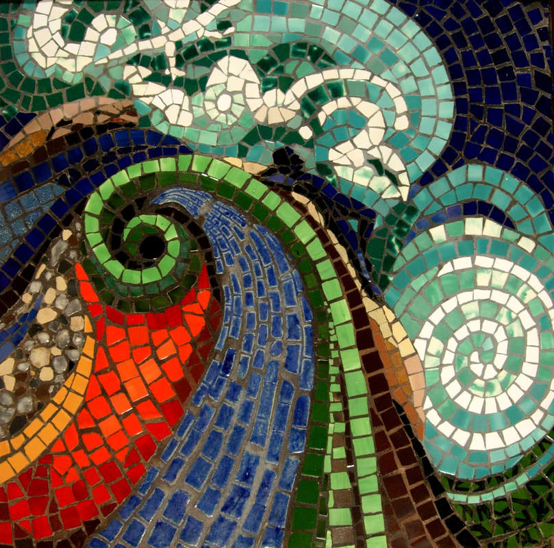 Beautiful Dreamer: Commissioned Mosaic Tile Mural