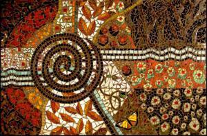 Beneath the Surface: Custom Glass Mosaic Public Artwork Mural. Tacoma, WA