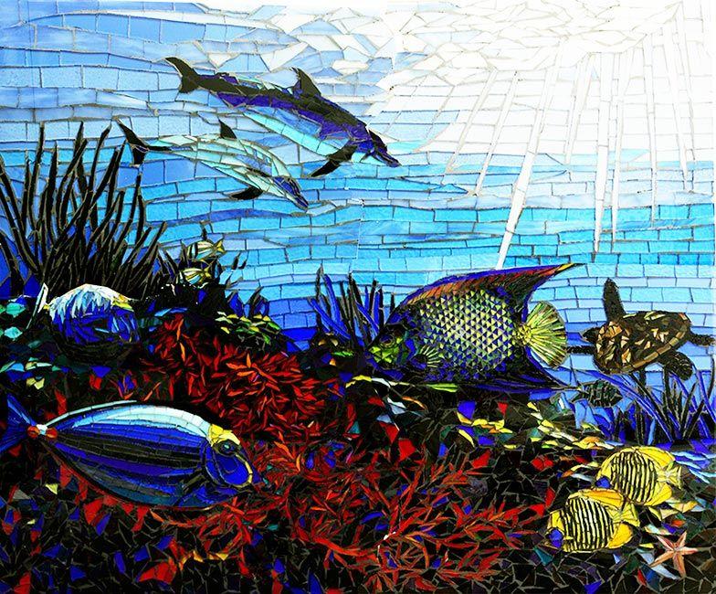 Undersea: Custom Backsplashes