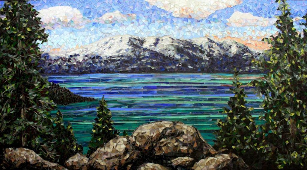 Lake Tahoe: Custom Mosaic Art