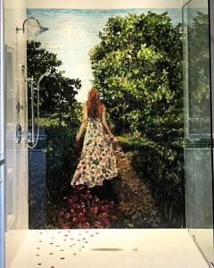 Randys Shower: Custom Mosaic Art Murals