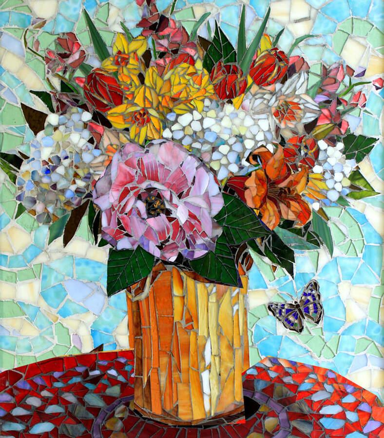 Daffodils: Custom Fine Art Glass Mosaic