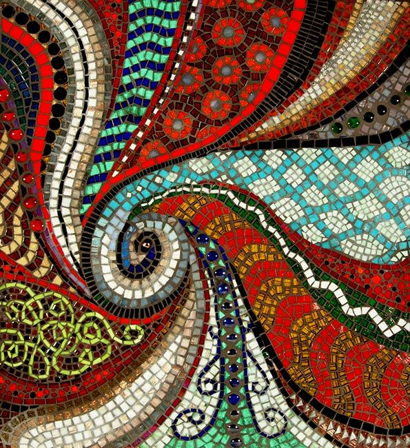 Birth of a Planet - Showcase Mosaics - Sandra and Carl Bryant