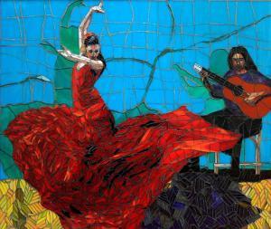 Falmenco Dancer: Custom Mosaic Art