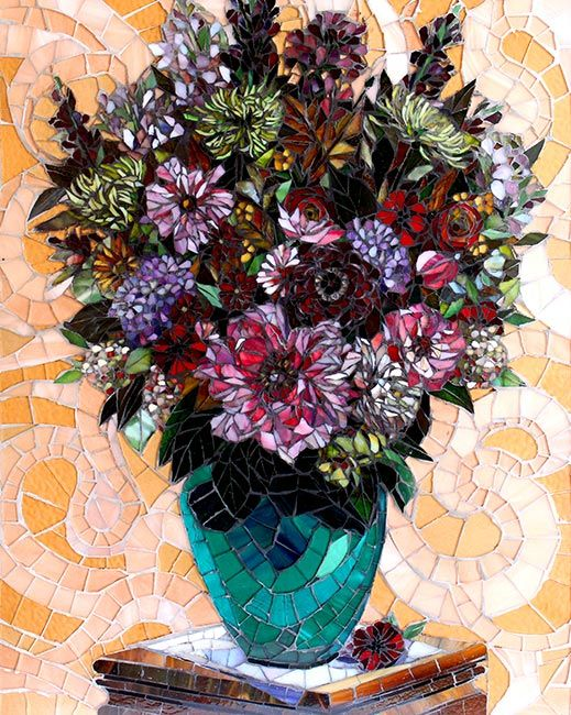 Floral in Pink: Fine Art Mosaics