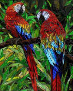 Macaws: Fine Art Mosaics