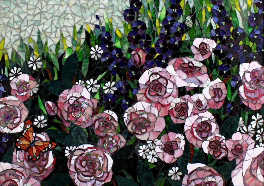 Rose Garden: Floral Fine Art Mosaics
