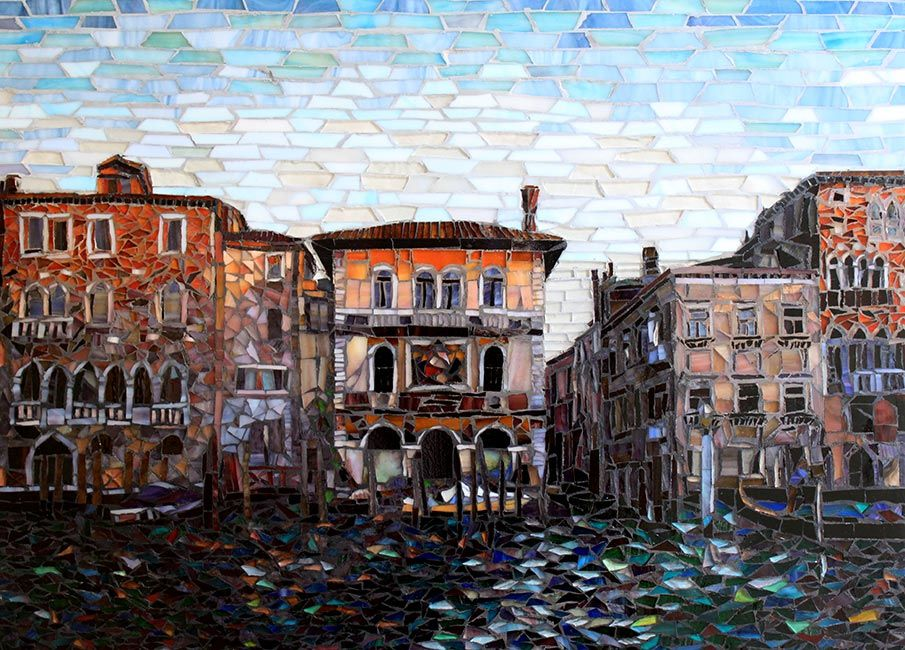 Venice Sunset: Fine Art Mosaics