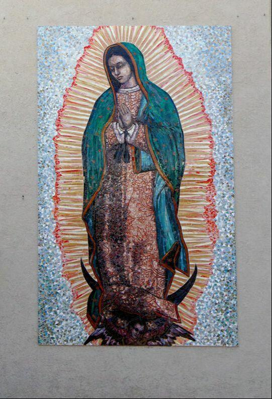 Our Lady Of Guadalupe: Custom Religious Mosaic Mural For Church