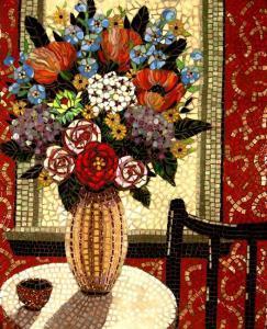 Flowers on the Table: Fine Art Mosaics