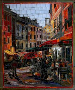 Evening Walk in Vernazza: Fine Art Mosaics