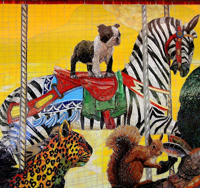 Carousel: Custom Mosaic Art Mural by Mosaic Artists