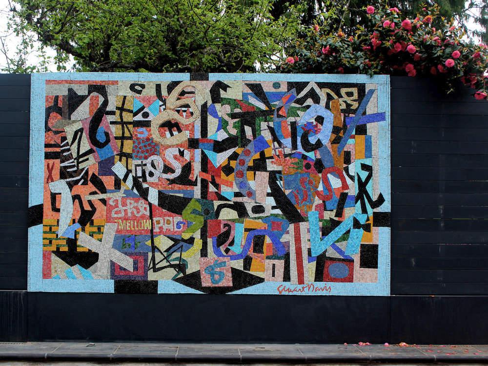 Ode to Stuart Davis: Outdoor Mosaic Mural. West Seattle, Washington