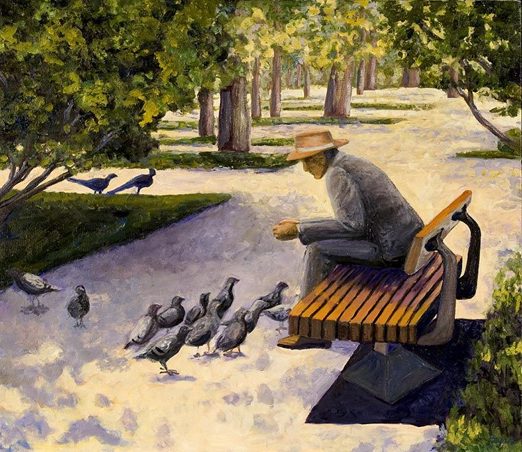 Park Bench: Washington Oil Painters