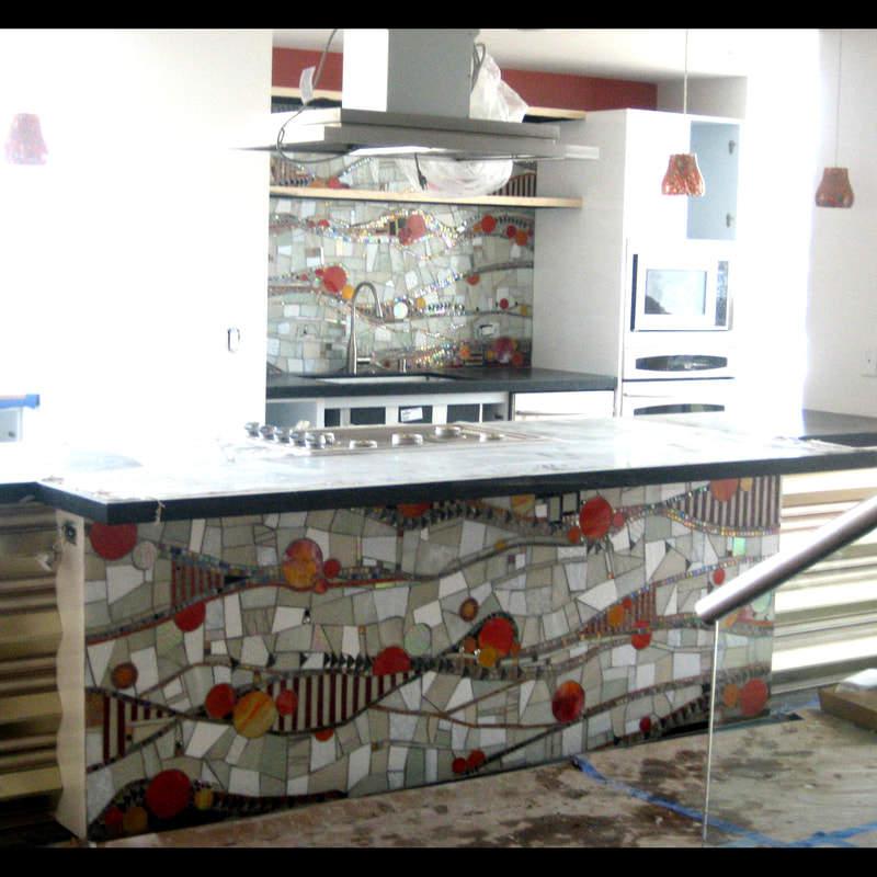 Blacksplash Orange County: Custom Contemporary Mosaic