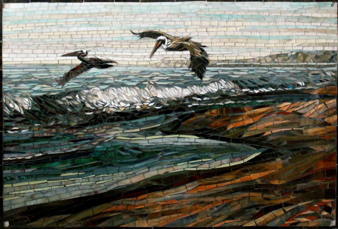 Custom Kitchen Mosaic Glass Tile Bird Design Backsplash