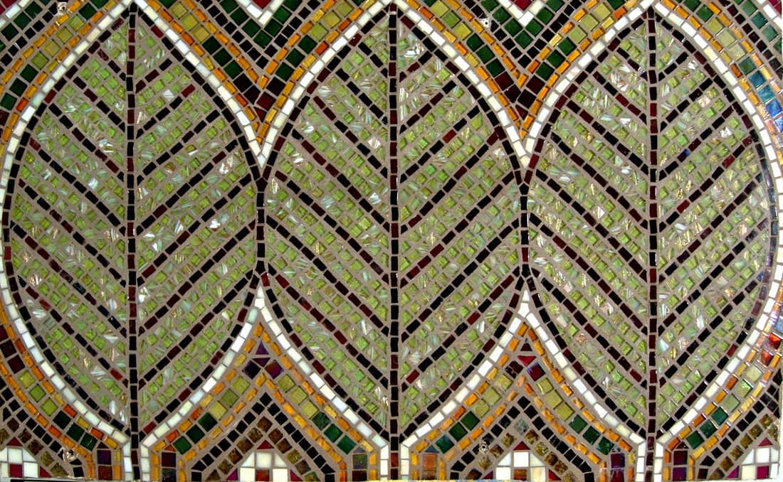 Custom Kitchen Mosaic Glass Tile Design Backsplash