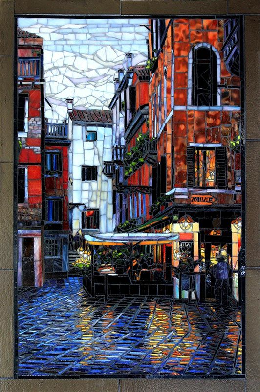 Venice After the Rain: Fine Art Mosaics For Sale