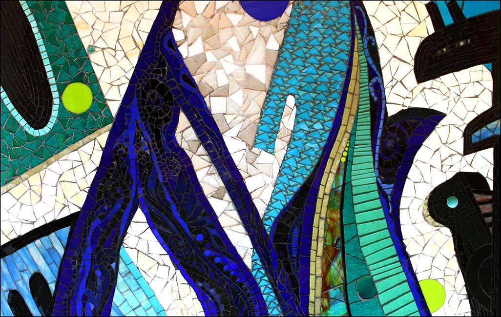 The Blues: Fine Art Mosaics For Sale