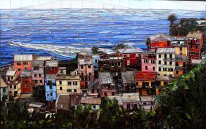 Over Vernazza: Fine Art Mosaics For Sale
