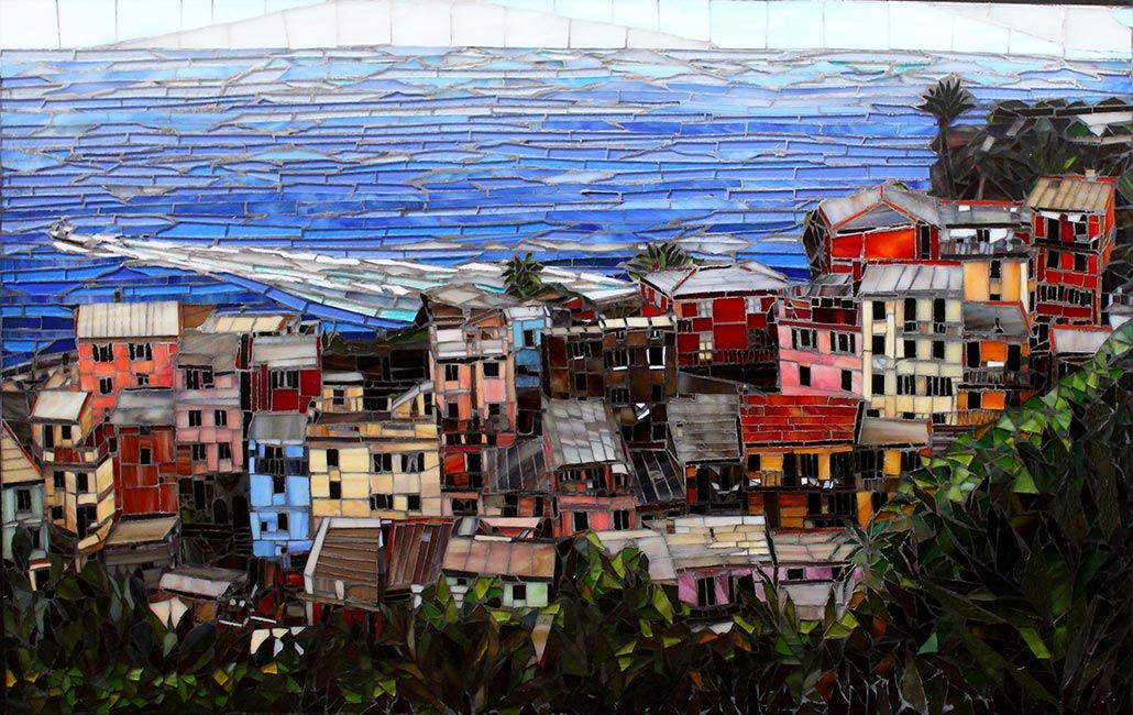 Over Vernazza: Fine Art Mosaics For Sale