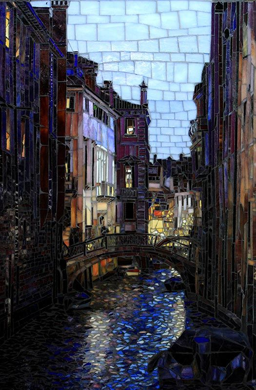 Night in Venice: Fine Art Mosaics For Sale