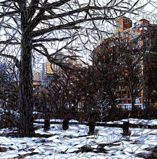 Central Park in Winter: Fine Art Mosaics For Sale
