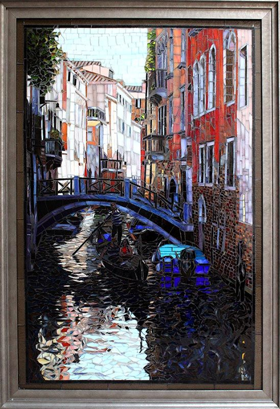 Morning in Venice: Fine Art Mosaics For Sale