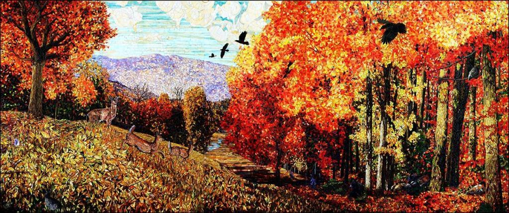 Into the Autumn Woods: Fine Art Mosaics For Sale
