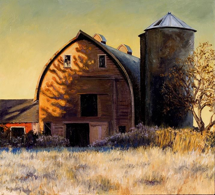 Shadows on the Barn: Landscape Oil Paintings for Sale