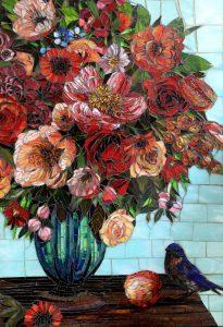 Bluebird: Fine Art Mosaic
