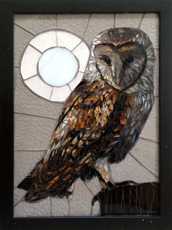 Barn Owl Bird: American Mosaic Artists