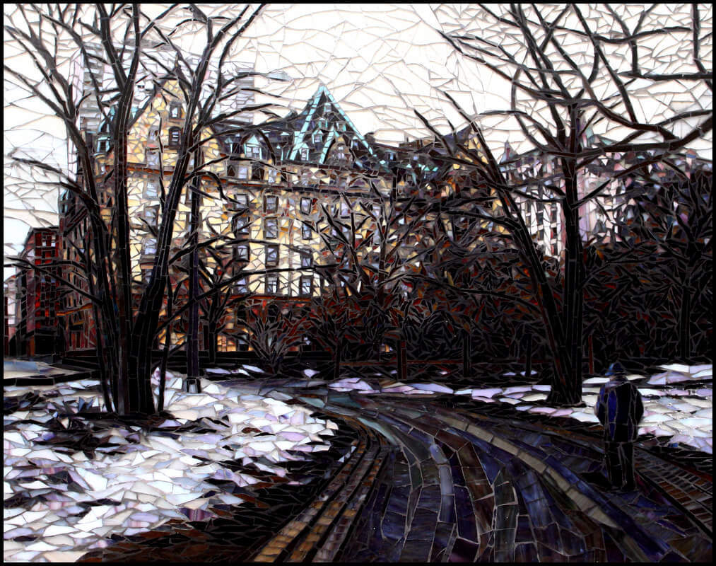 Central Park In Snow: American Mosaic Tile Artists