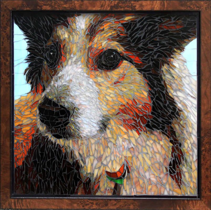 Molly: Mosaic Dog Pet Portrait