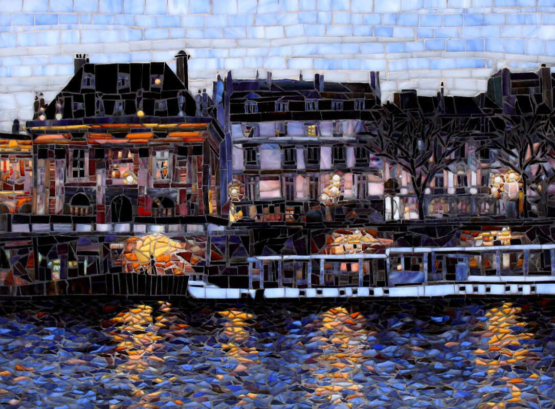 Walking Along The Seine River: Mosaic Tile Artists