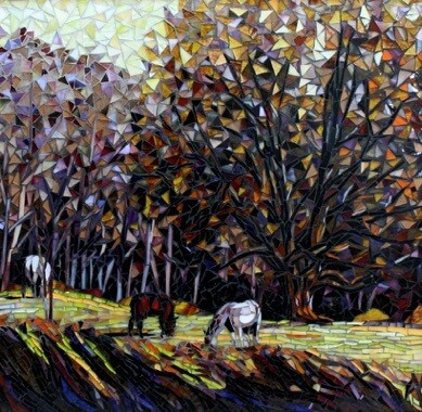 Winters End Horses: American Mosaic Artists