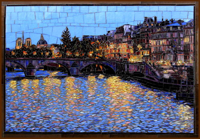 Across the Seine: Glass Mosaic