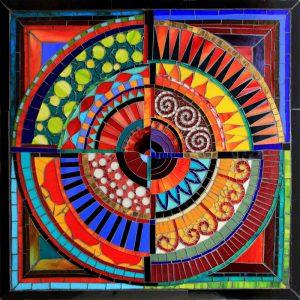 Recycled Circles: Glass Mosaic