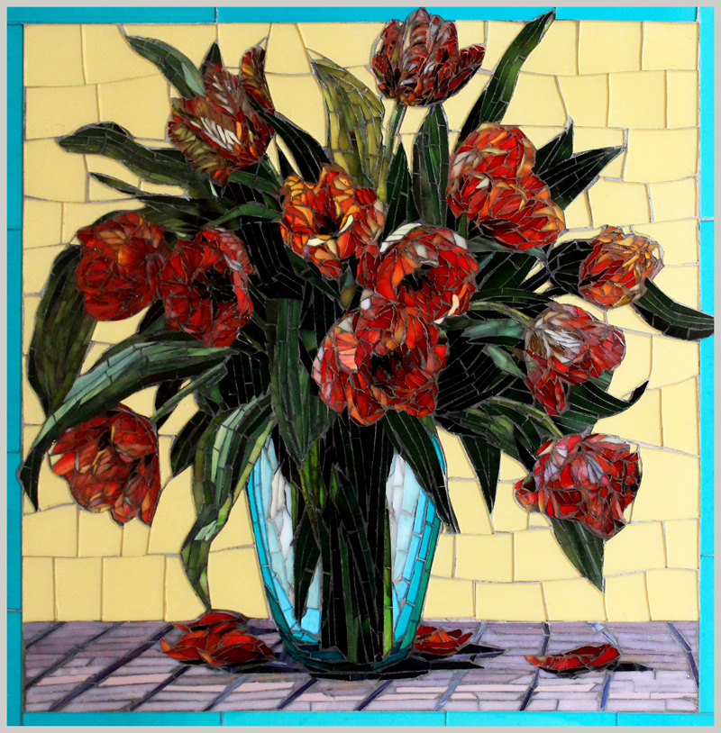 Joy of Tulips: Glass Mosaic