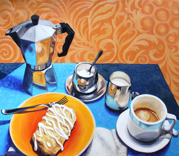 Breakfast of Champions Original Oil Painting