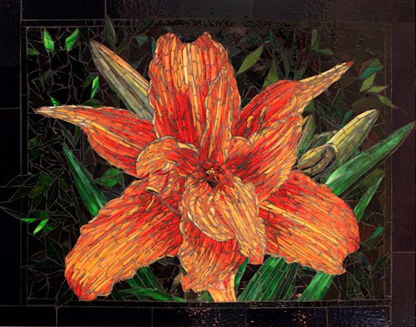 The Daylily - Fine Art Glass Mosaic