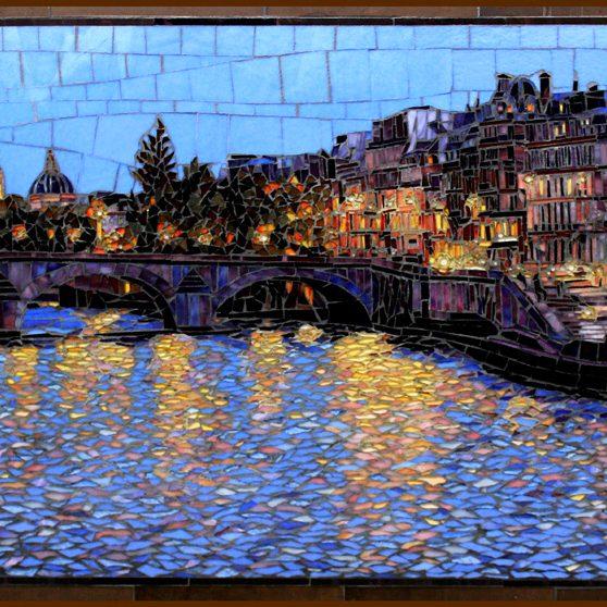 Across the Seine: Glass Mosaic