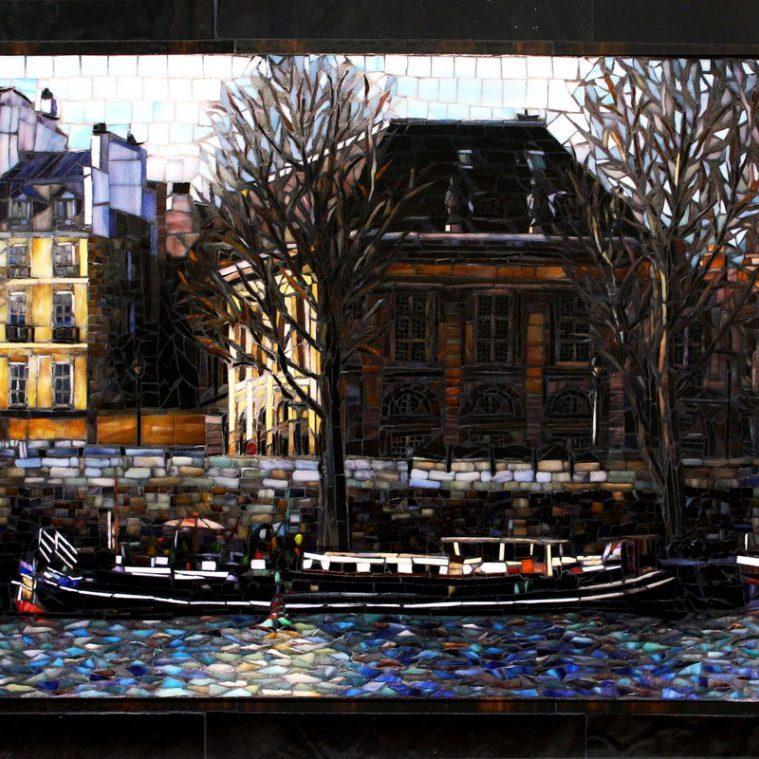 April In Paris: Custom Glass Mosaic