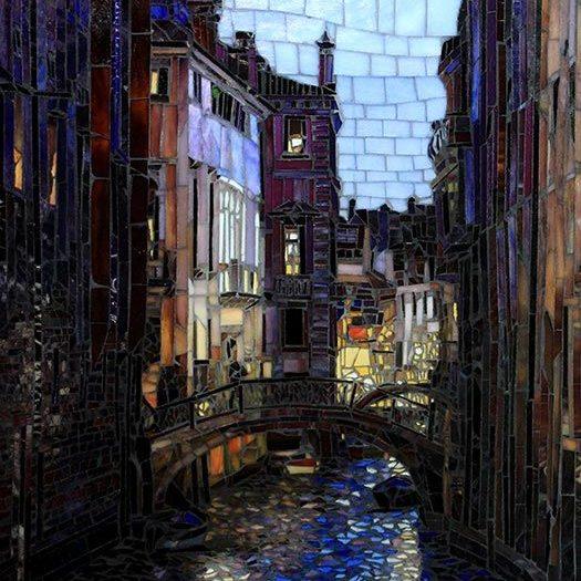 Night in Venice: Fine Art Mosaics For Sale