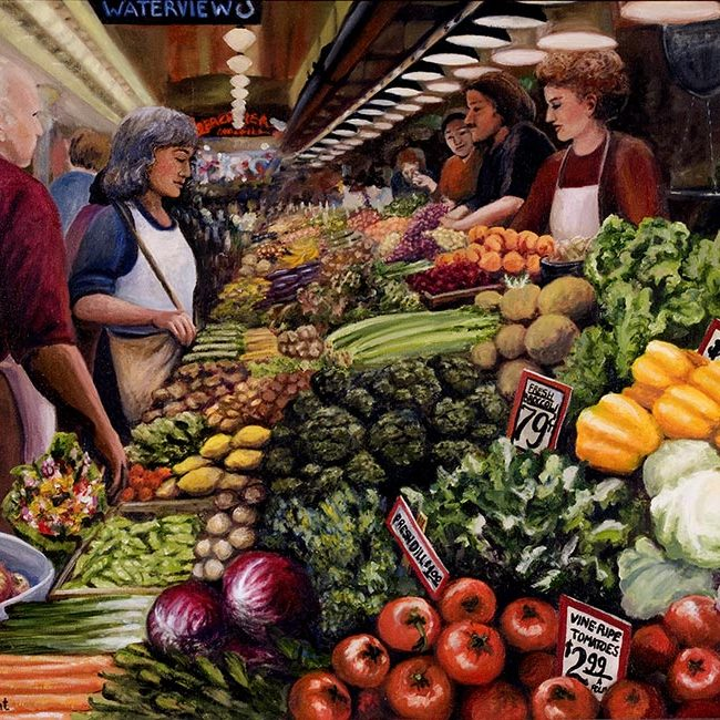 Pike Place Market: Washington Oil Painters