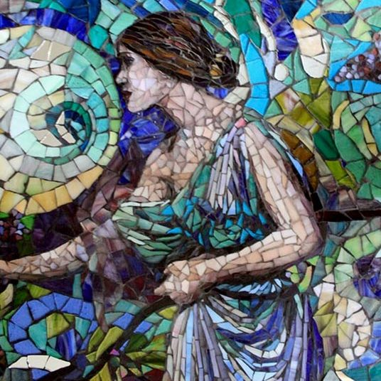 Moon Woman: Custom Mosaic Art