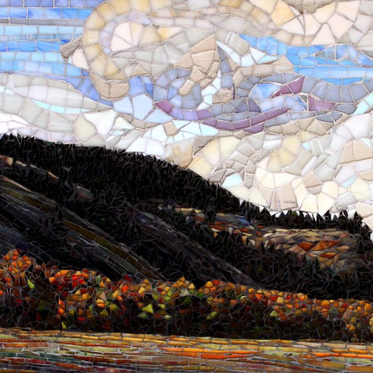 East of the Summit: Custom Fine Art Mosaic Cascade Mountains, Washington