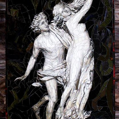 Apollo and Daphne: Custom Mosaic Art